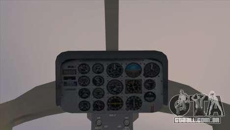 Bell 407 para GTA San Andreas traseira esquerda vista