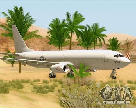 Boeing P-8 Poseidon US Navy para GTA San Andreas esquerda vista
