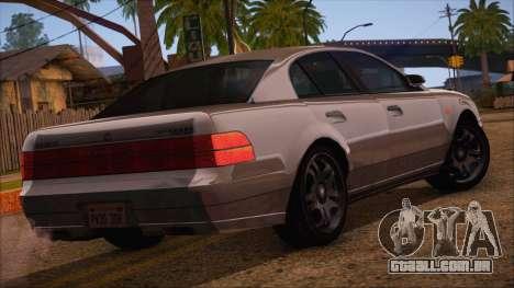 GTA 5 Intruder para GTA San Andreas esquerda vista