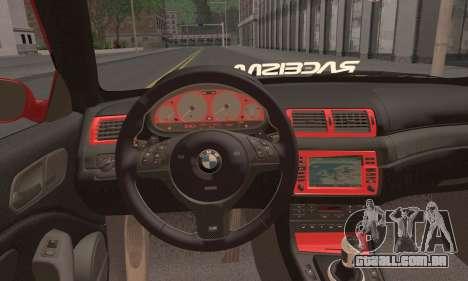 BMW M3 Coupe Tuned para GTA San Andreas traseira esquerda vista