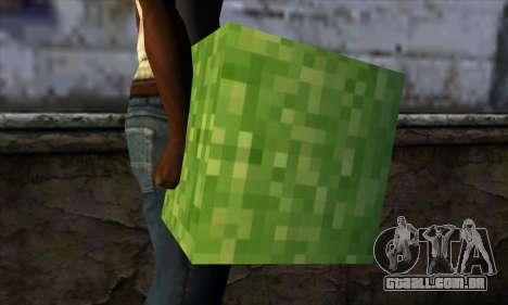 Bloco (Minecraft) v5 para GTA San Andreas terceira tela