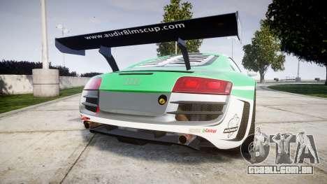 Audi R8 LMS Castrol EDGE para GTA 4 traseira esquerda vista