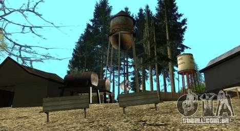 O Altruísta acampamento no monte Chiliad para GTA San Andreas décimo tela