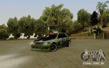 Toyota Altezza Toy Sport para GTA San Andreas esquerda vista