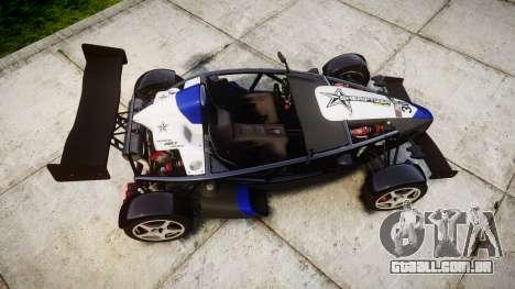 Ariel Atom V8 2010 [RIV] v1.1 Sheriftizer para GTA 4 vista direita