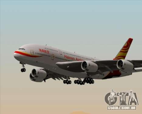Airbus A380-800 Hainan Airlines para as rodas de GTA San Andreas