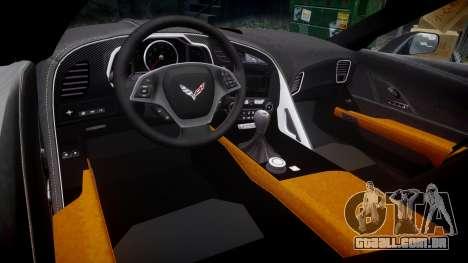 Chevrolet Corvette C7 Stingray 2014 v2.0 TireBr1 para GTA 4 vista interior