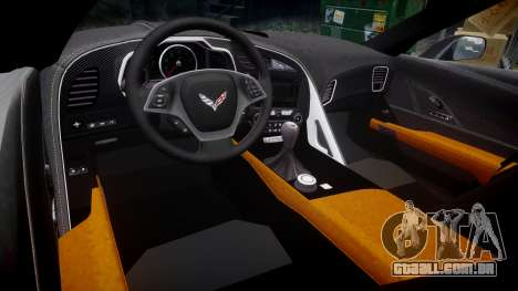 Chevrolet Corvette C7 Stingray 2014 v2.0 TirePi1 para GTA 4 vista interior