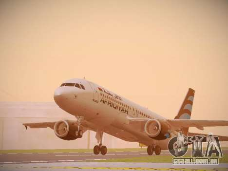 Airbus A320-214 Afriqiyah Airways para GTA San Andreas esquerda vista
