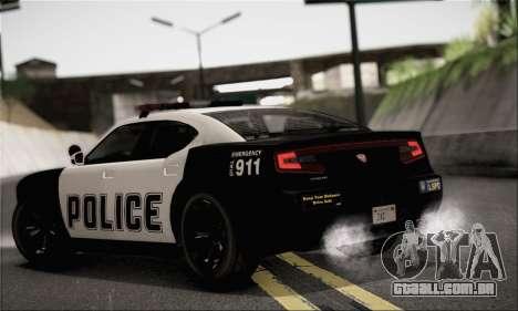 Bravado Buffalo S Police Edition (HQLM) para GTA San Andreas esquerda vista