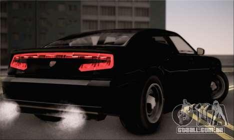 Bravado Buffalo S FIB para GTA San Andreas esquerda vista