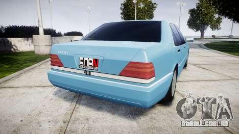 Mercedes-Benz 600SEL W140 para GTA 4 traseira esquerda vista