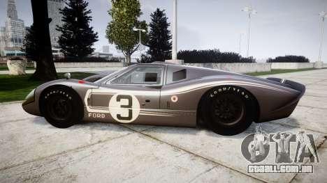 Ford GT40 Mark IV 1967 PJ 3 para GTA 4 esquerda vista