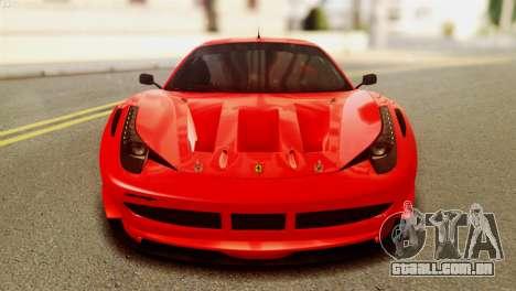 Ferrari 62 F458 2011 para GTA San Andreas vista traseira