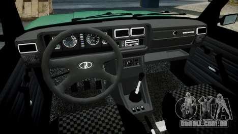 VAZ-2107 inferior para GTA 4 vista de volta