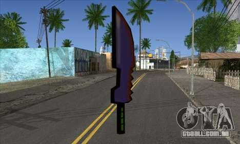 Cartoon espada para GTA San Andreas segunda tela