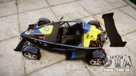 Ariel Atom V8 2010 [RIV] v1.1 Petrolos para GTA 4 vista direita