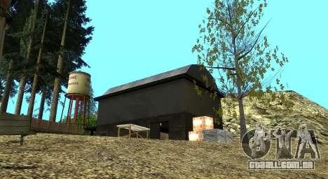 O Altruísta acampamento no monte Chiliad para GTA San Andreas oitavo tela