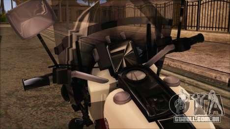 GTA 5 Police Bike para GTA San Andreas traseira esquerda vista