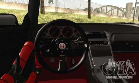Honda NSX para GTA San Andreas traseira esquerda vista