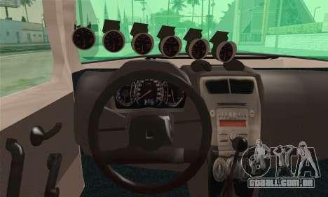 Daihatsu Mira Modified para GTA San Andreas traseira esquerda vista