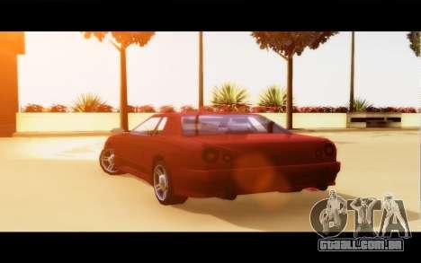 Elegy By Next para GTA San Andreas traseira esquerda vista