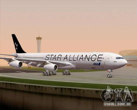 Airbus A340-300 All Nippon Airways (ANA) para GTA San Andreas vista superior