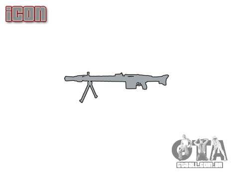 Alemão MG3 metralhadora icon1 para GTA 4 terceira tela