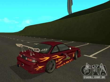 Nissan 200SX FnF1 (Letty car) para GTA San Andreas traseira esquerda vista
