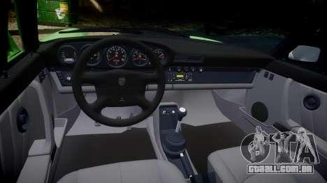 Porsche 911 (964) Cabrio para GTA 4 vista interior