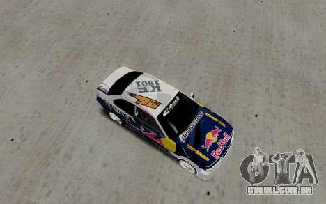 BMW E36 Red Bull para GTA San Andreas traseira esquerda vista