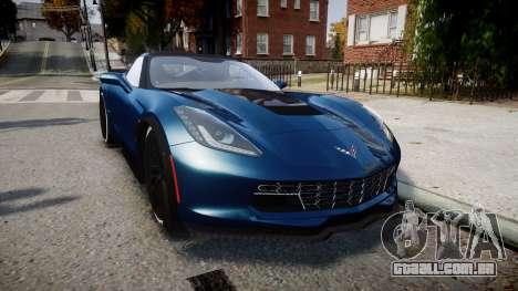 Chevrolet Corvette Z06 2015 TireBr3 para GTA 4