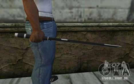 Katana from Deadpool para GTA San Andreas terceira tela