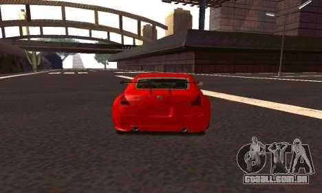 Nissan 350Z Tune para GTA San Andreas vista direita