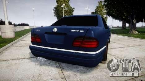 Mercedes-Benz W210 E55 2000 AMG Vossen VVS CVT para GTA 4 traseira esquerda vista