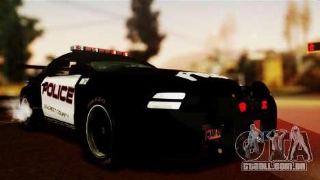 Ford Mustang GT-R Police para GTA San Andreas