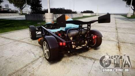 Ariel Atom V8 2010 [RIV] v1.1 RAPA olio para GTA 4 traseira esquerda vista