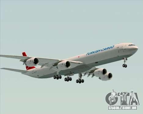 Airbus A340-600 Turkish Cargo para GTA San Andreas traseira esquerda vista