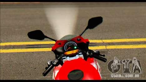 Honda All New CBR150R para GTA San Andreas traseira esquerda vista