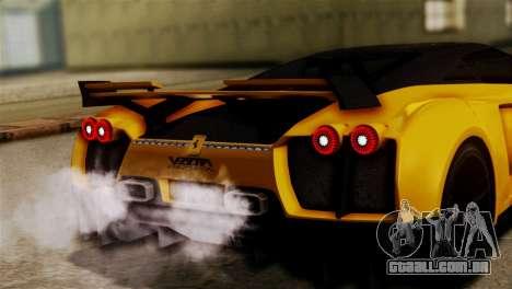 Ferrari Velocita 2013 SA Plate para GTA San Andreas vista traseira