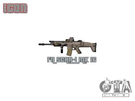 Máquina FN SCAR-L Mc 16 de destino icon3 para GTA 4 por diante tela