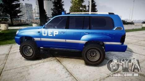 Toyota Land Cruiser 100 UEP blue [ELS] para GTA 4 esquerda vista