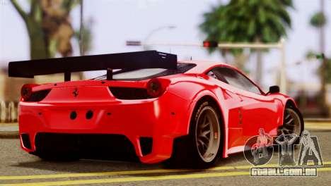 Ferrari 62 F458 2011 para GTA San Andreas esquerda vista