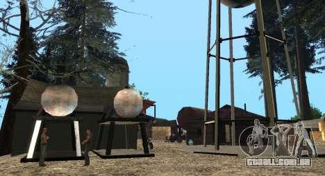 O Altruísta acampamento no monte Chiliad para GTA San Andreas sexta tela