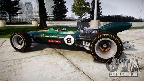 Lotus 49 1967 green para GTA 4 esquerda vista