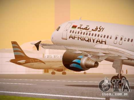 Airbus A320-214 Afriqiyah Airways para GTA San Andreas interior