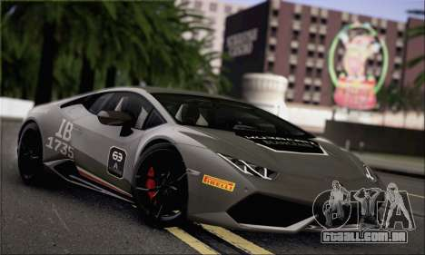 Lamborghini Huracan LP610-4 2015 para vista lateral GTA San Andreas