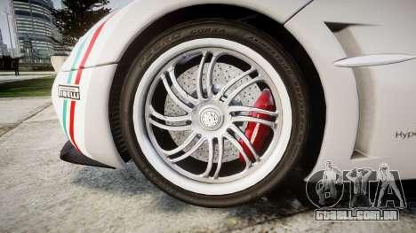 Pagani Huayra 2013 para GTA 4 vista de volta