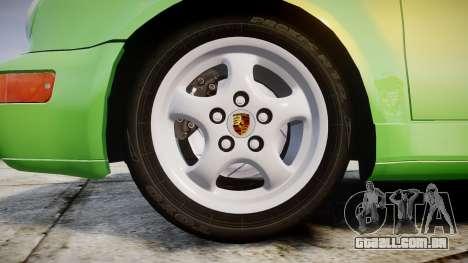 Porsche 911 (964) Cabrio para GTA 4 vista de volta