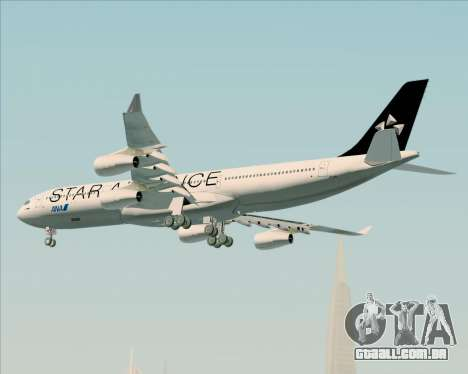 Airbus A340-300 All Nippon Airways (ANA) para GTA San Andreas vista inferior